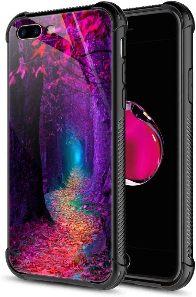 iPhone SE 2020 Case,Tempered Glass iPhone 8 Case, Fall Forest iPhone 7 Cases [Anti-Scratch] Fashion Cover Case for iPhone 7/8/SE2 4.7-inch Fall Forest