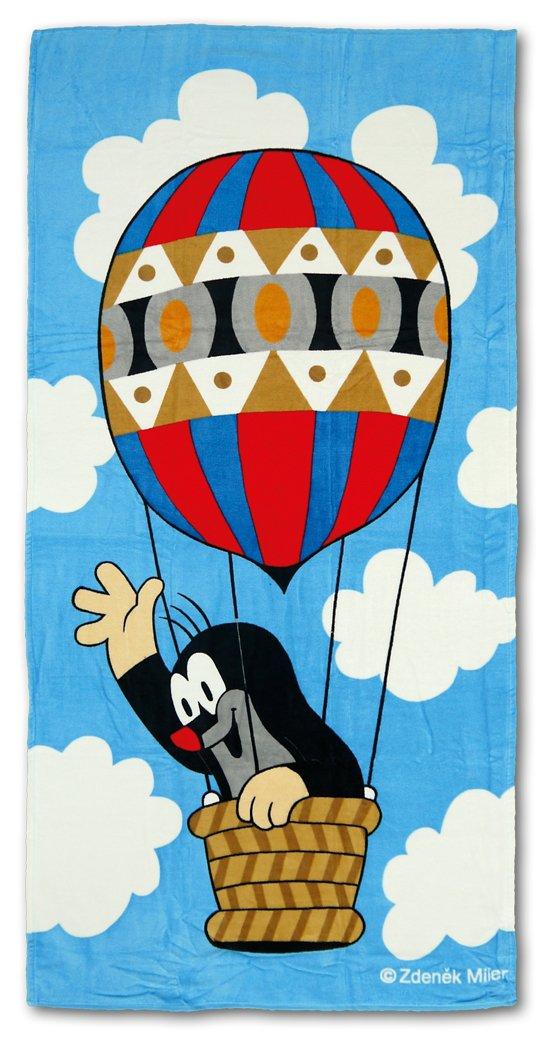 Trullala Badehandtuch, Strandtuch, der kleine Maulwurf, aus der ''Sendung mit der Maus'', Motiv: Ballon, blau