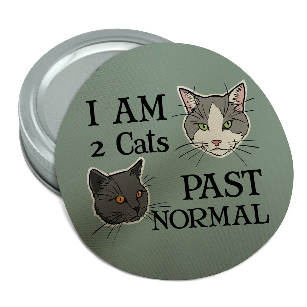 Two Cats Past Normal Round Rubber Non-Slip Jar Gripper Lid Opener GRAPHICS & MORE