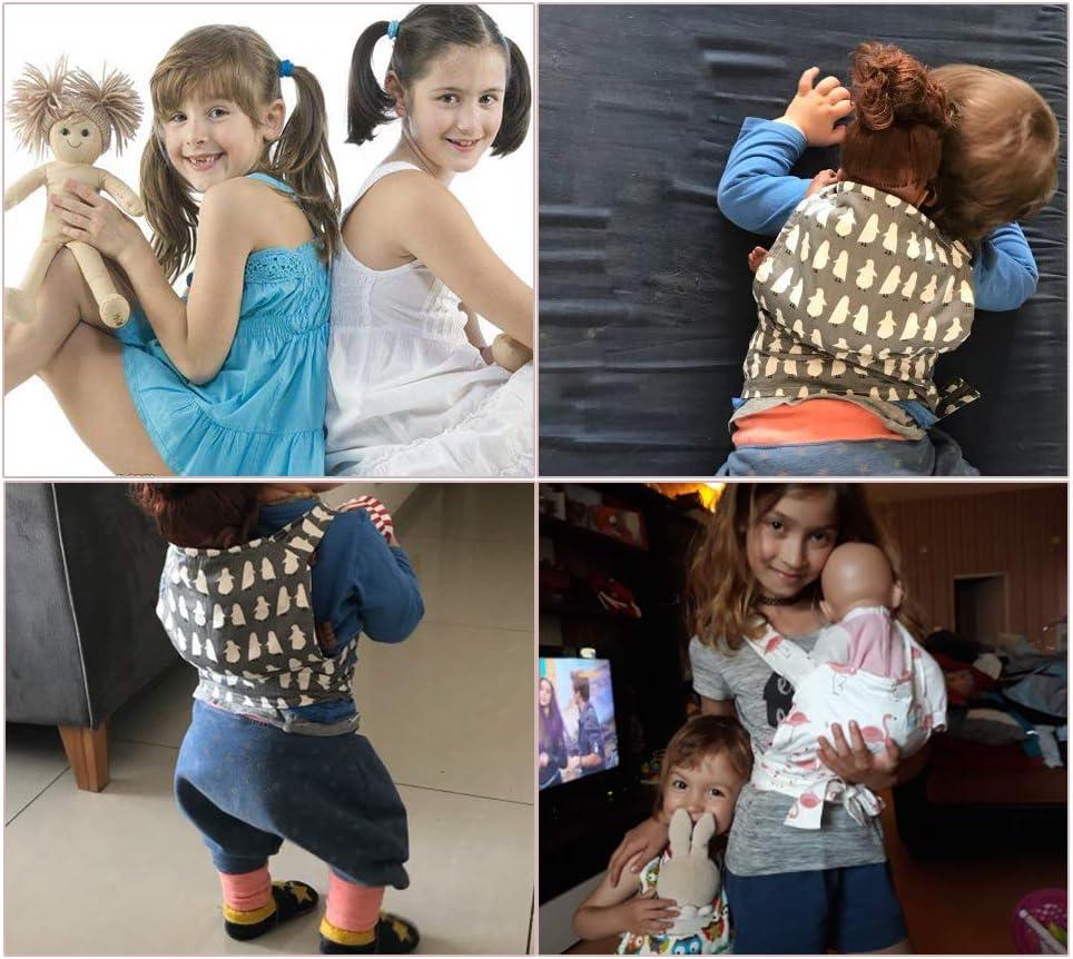 Yuccer Portabeb/és para Mu/ñecas Baby Doll Carrier Accesorios para Mu/ñecos Beb/é Bandoleras portabeb/é Ping/üino