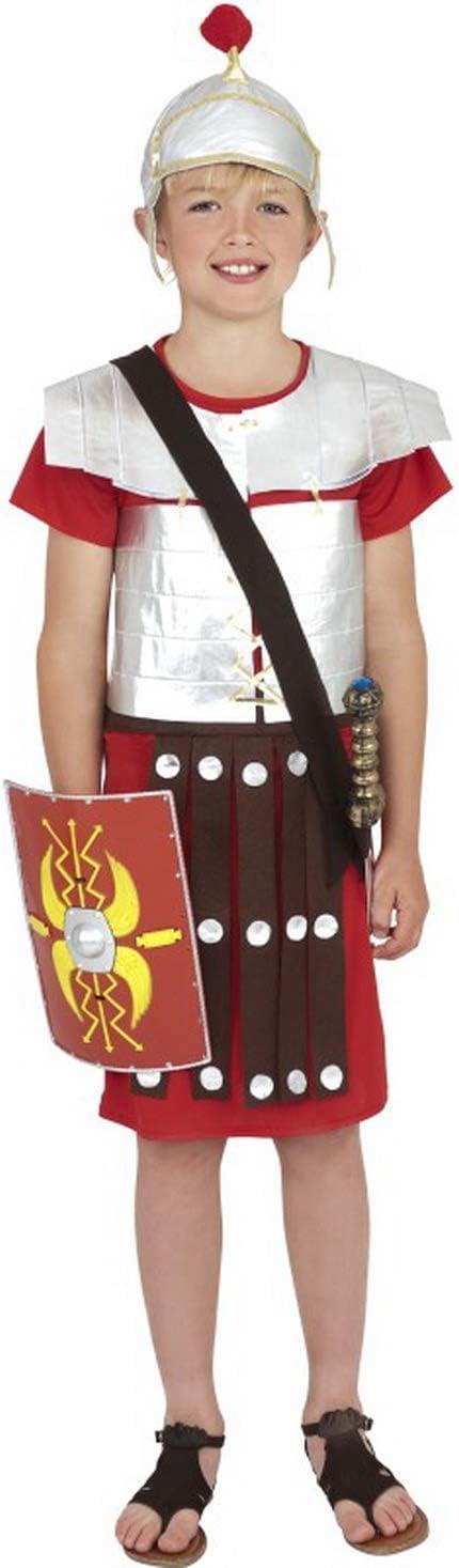 Halloweenia Disfraz de Soldado Romano para niños túnica y Casco ...