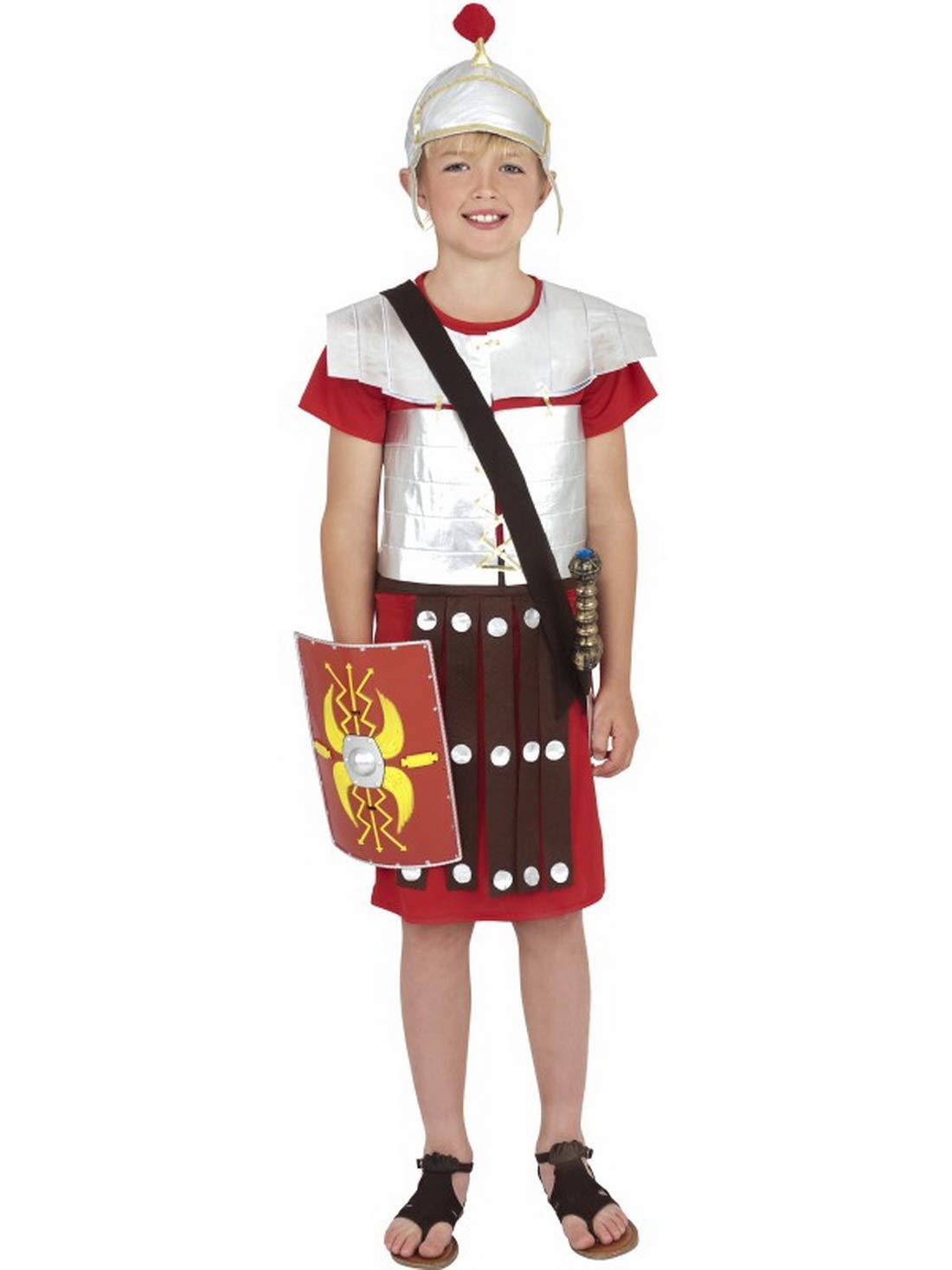 Fancy Ole - Disfraz de Soldado Romano para niño con túnica y Casco ...