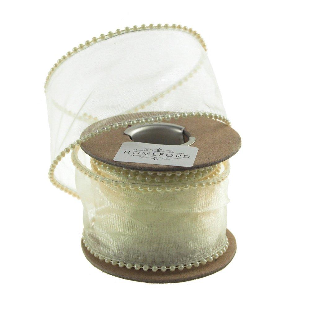 Homeford FAM0000C15628352 Ribbon, 2'', Ivory