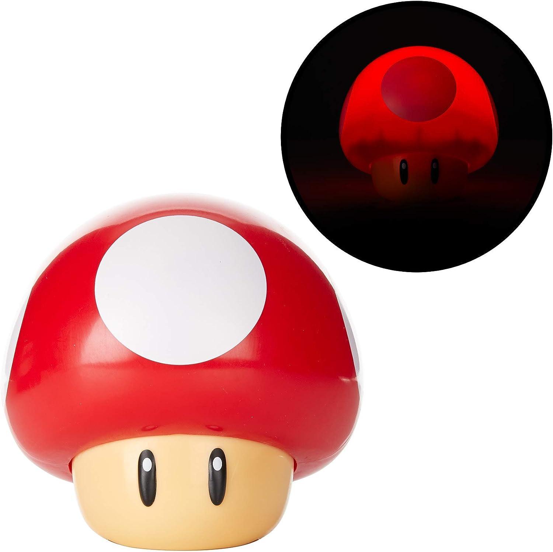 Amazon Com Paladone Super Mario Bros Toad Mushroom Light With Sound Collectable Light Up Figure Night Light Home Improvement