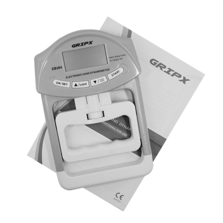 GRIPX Dynamom/ètre num/érique de Mesure de la Force de pr/éhension Enregistrement Automatique 90 kg