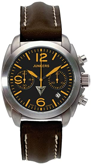 89ce25573b1 Junkers G-38 Mechanical Chronograph Watch 6408-5: Amazon.ca: Watches