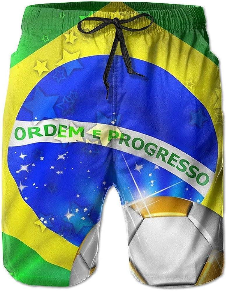 Pantalón Corto de fútbol con Bandera de Brasil para Hombre Secado rápido Verano Playa Tabla de Surf Shorts Swim Trunks Cargo Shorts: Amazon.es: Ropa y accesorios