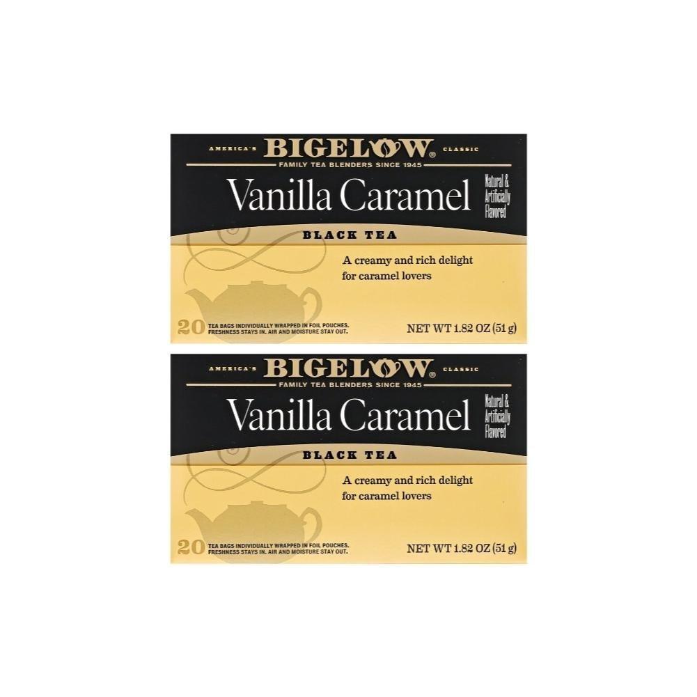 Bigelow Vanilla Caramel Black Tea (20 Teabags) (Pack of 2)