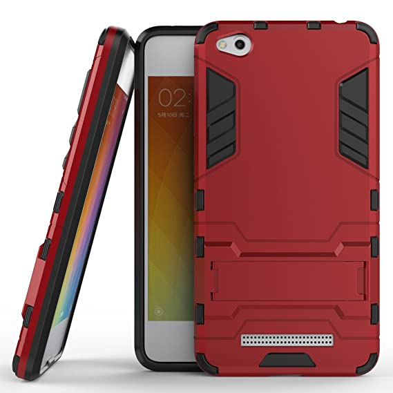 uk availability f70db b0a12 Xiaomi Redmi 4A Hybrid Case, Redmi 4A Shockproof Case, Dual Layer  Protection Hybrid Rugged Case Hard Shell Cover with Kickstand for 5.0''  Xiaomi Redmi ...
