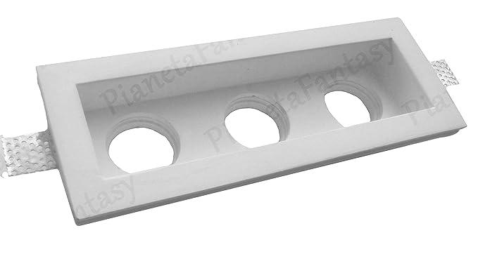 Puerta Foco rectangular a 3 luces de tiza Ceramico Totalmente PF18 Lote de 50 piezas +
