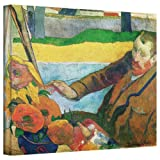 Paul Gauguin 'Van Gogh Painting Sunflowers' gallery-wrapped canvas A high quality print reproduction of an oil on canvas. Depicts fellow painter Vincent Van Gogh as he paints. This probably took place at Arles when Gauguin visited him. This classic c...