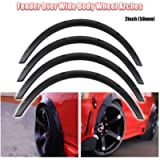 Ruien JDM Universal Fender Flares 4pcs Car Wide Wheel Flares Extension Arch Protector Stripe Flexible Polyurethane SUV…