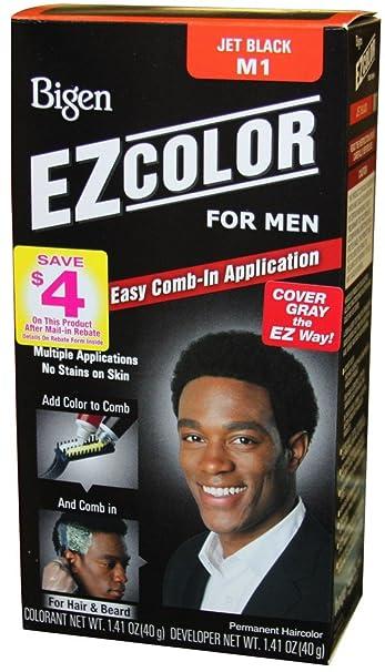 Amazon.com : Bigen EZ Color Hair Color for Men - Jet Black Kit ...