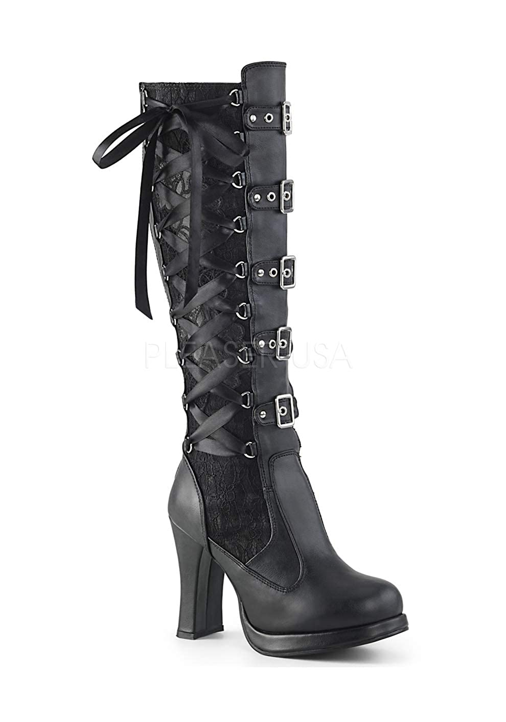 Demonia CRYPTO-106 Blk Vegan Leather-Lace UK 8 (EU 41) 41) 41) 018423