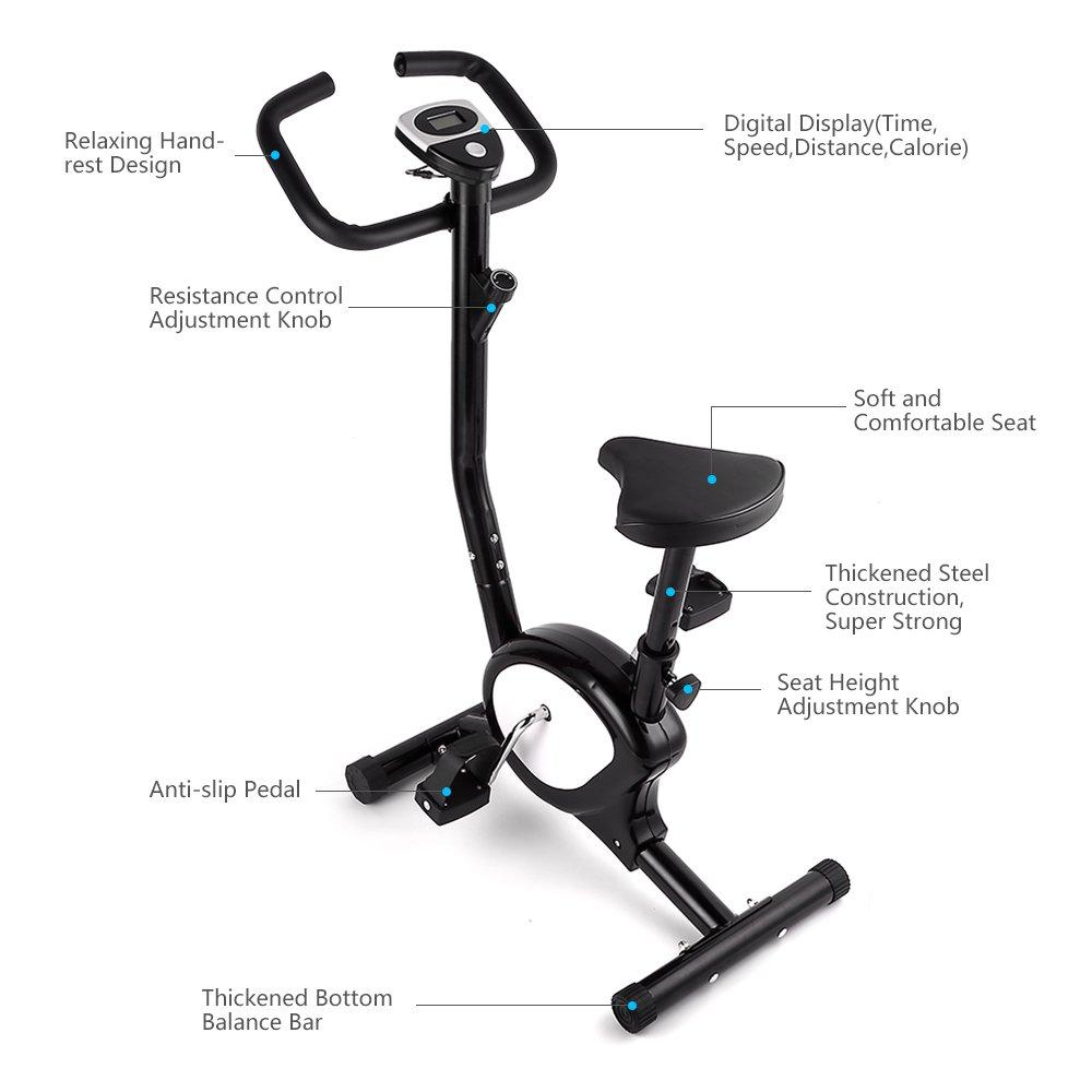 Bicicleta estática de Evoland, para hacer ejercicio, plegable, con ...