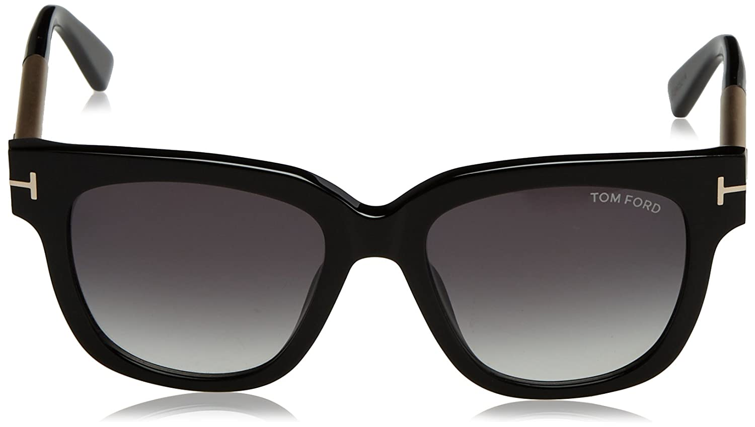 c1143d1df3d5 Amazon.com  Tom Ford Women s Tracy TF436 TF 436 01B Black Beige Fashion  Sunglasses 53mm  Clothing