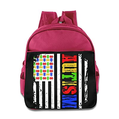KEPan Lightweight Bookbag Autism Awareness Flag Kids Backpack Outdoor Daypack new