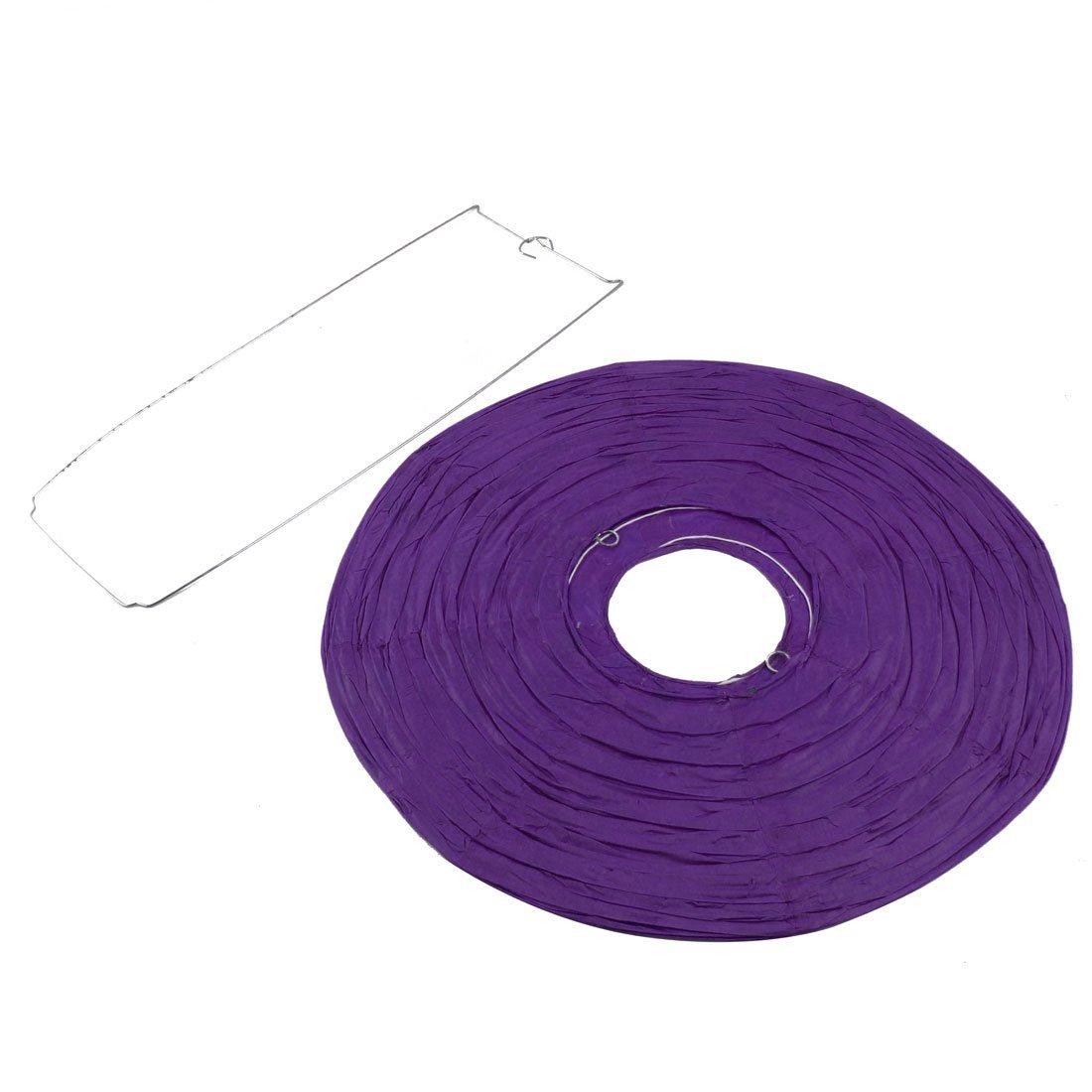 Amazon.com: eDealMax Forma bola del Partido de la linterna de la lámpara Luces de Cadena de Regalo de Navidad 16 pulgadas púrpura: Home & Kitchen