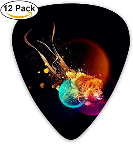 Sherly Yard 12 Pack Púas de guitarra personalizadas Fire Lion of ...