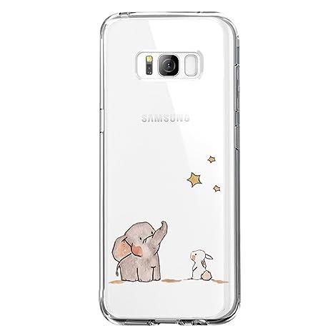 JEPER Kompatibel für Galaxy S8 Hülle, S8 Handyhüllen Crystal Clear Ultra Dünn Flexibel Silikon Case Transparent Premium TPU W