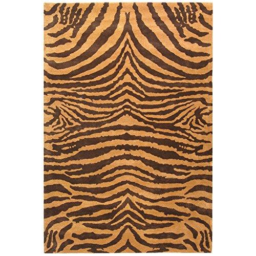 (Safavieh Soho Collection SOH434C Handmade Brown and Gold Premium Wool Area Rug (3'6