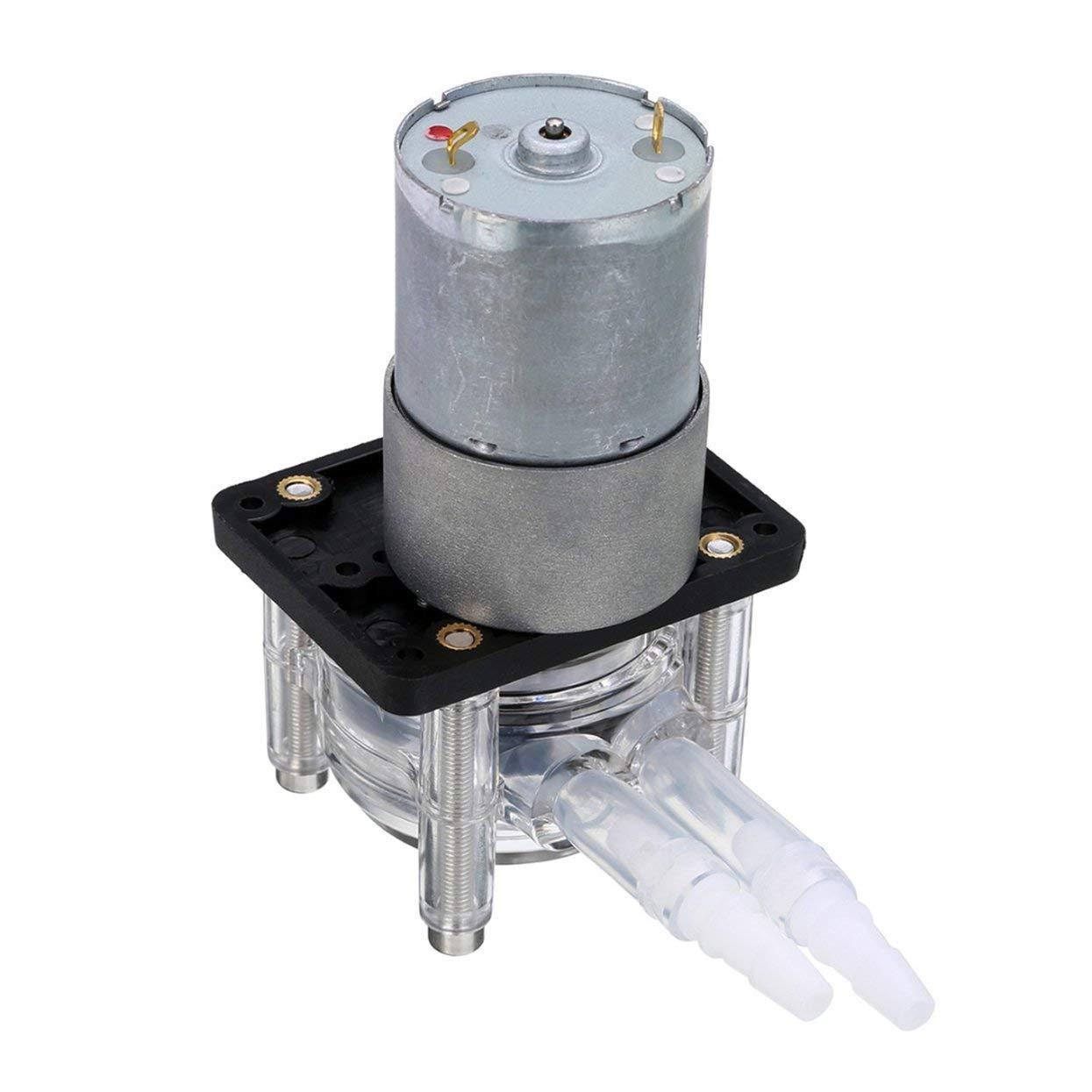 Tellaboull for Pompa peristaltica DC 12 24V Pompa dosatrice per Flusso Grande Pompa per Vuoto anticorrosione Forte aspirazione per Laboratorio Acquario