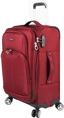 Pathfinder Luggage Carry On 21 Suitcase With Spinner Wheels 21in, Traverse Merlot
