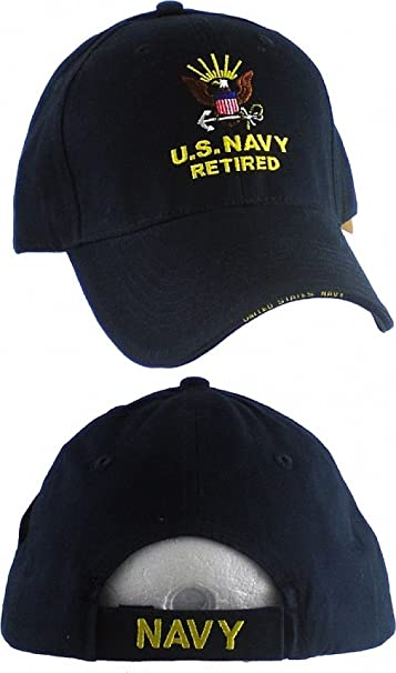 U.S. Navy Retired Direct Embroidered Cap at Amazon Men s Clothing ... 02977d1b75a3