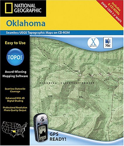 National Geographic TOPO Map of Oklahoma (Mac)