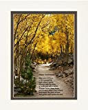 Anniversary Gift for Couple. Aspen Path Photo with ''Happy Anniversary'' Poem, 8x10 Double Matted. Special Gift for Anniversary