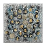 World Art TW60138 Aesthetic Wooden Frame Spheres Composition 100x100x3.5 cm Size: 40 x 40 x 2 Inch