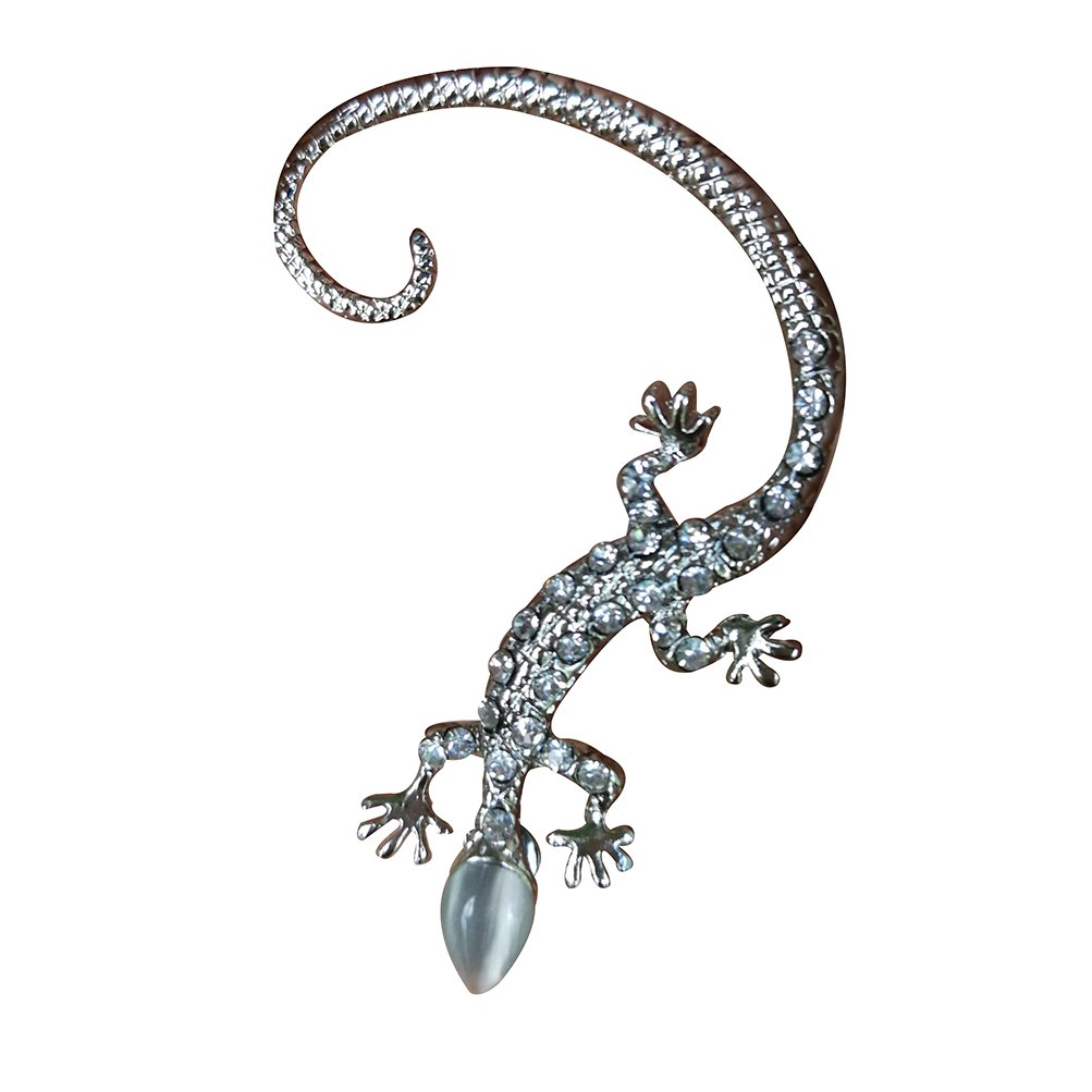 Punk Ear Cuff Earring Lizard Earring Silver for Women Men