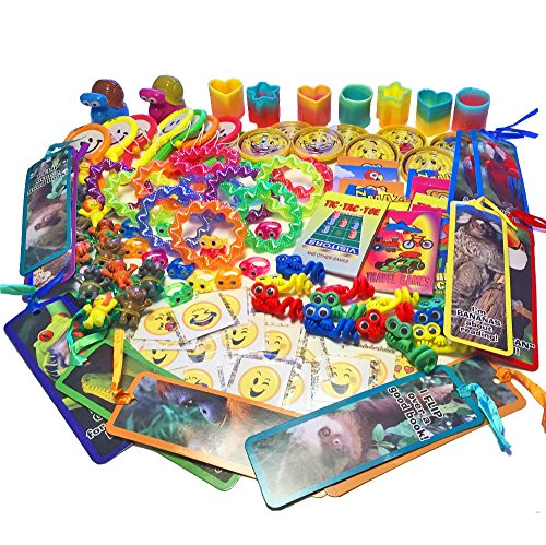 134-Piece Small Toy Assortment for Goody Bags, Party Favors for Kids Birthday Party, Bulk Rewards for Doctor Dentist Office, Items for Treasure Chests, Pinata Filler, Dollar Trees and Carnival Prizes by Blue Hopper