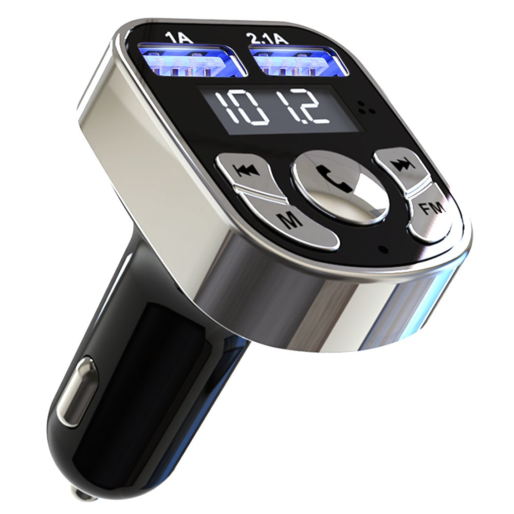 Niukamo Bluetooth FM Transmitter for Car Blue Tooth Receiver Charger MP3 Player in-Car Quickly Charging Wireless Stereo Radio Adapter Kit Hands Free Calling Dual USB Ports Charge 5V 4336323615