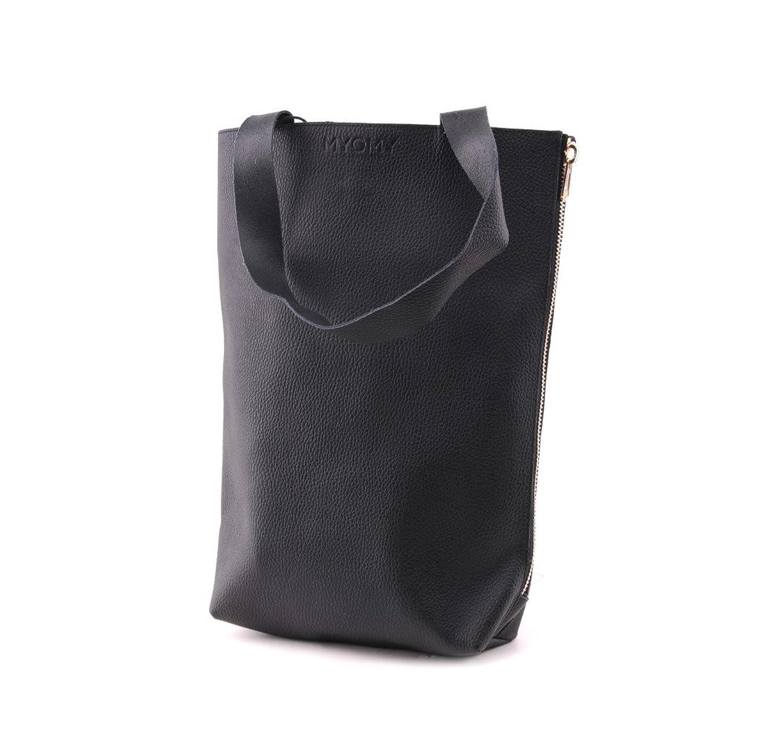"""MYOMY """"MY BLACK BAG"""" Tote bag in black"""