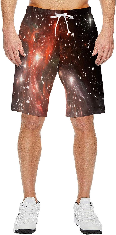 Mens Lightweight Slim Fit Quick Dry Beach Shorts Love Zebra Surf Beach Pants with Mesh Lining