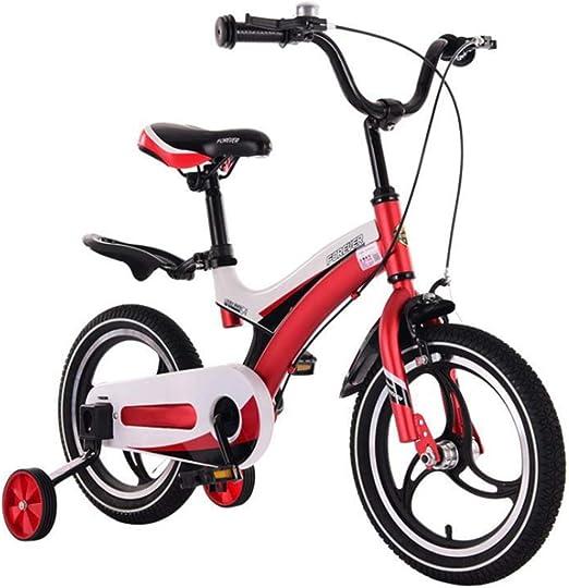 YWZQ Bicicleta para niños, Bicicletas para niños y niñas Asientos portátiles neumáticos Antideslizantes Resistentes Frenos Dobles Seguros y sensibles, Regalos de Juguetes para niños,Rojo,12: Amazon.es: Hogar