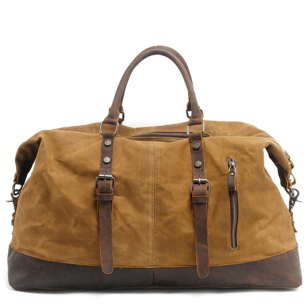 旅行用バッグ 大容量のメンズハンドバッグとキャンバススリング荷物バッグ キャビンオンフライト&ホールドオール   B07PPQPRCC