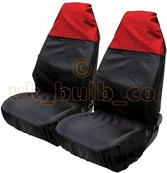 wasserabweisend zum Schutz der Sitze Rot//Schwarz ASC/Sitzh/ülle aus Nylon