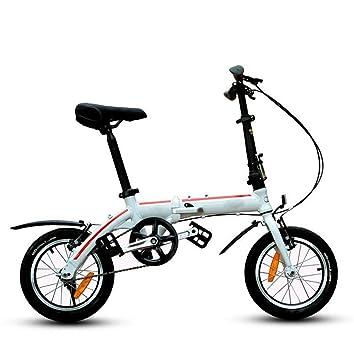 MASLEID mini bici bicicleta plegable de aleación de 14 pulgadas para los niños y los estudiantes