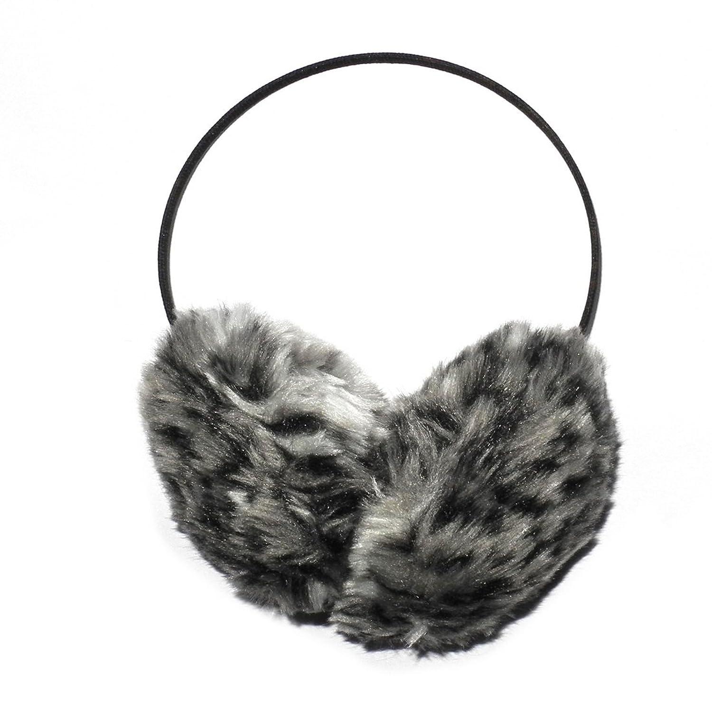Behind The Head: Damen warm winter ski & snow faux fur earmuffs