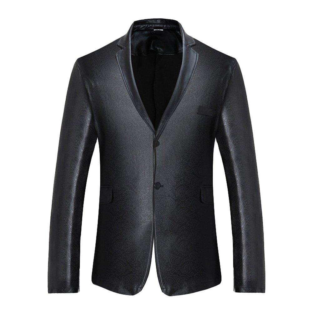 Uomo Slim Fit Blazer Casual Giacca di Paillettes Elegante Vestito di Affari