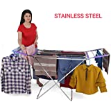 LiMETRO STEEL Stainless Steel Foldable Clothes Stand for Drying Clothes   Cloth Drying Stand   Cloth Drying Stands Foldable