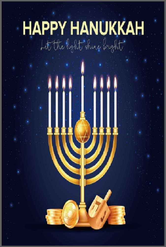 """Happy Hanukkah Garden Flag - Double Sided Chanukah Yard Flag - Festive Judaica Decor Size 11.25"""" x 18"""" by Jolly Jon ®"""