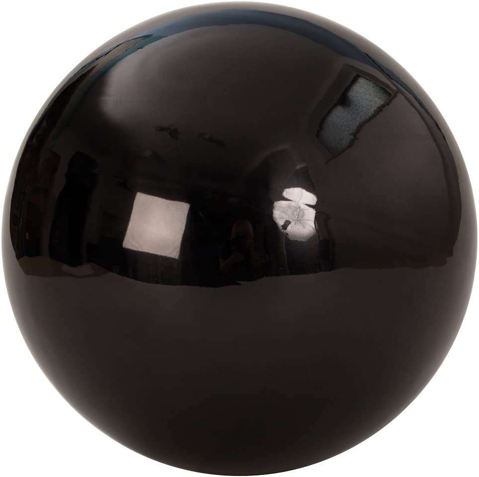 25/cm Stainless Steel Ball Bauble Christmas Decoration Large Decorative Ball in Black approx