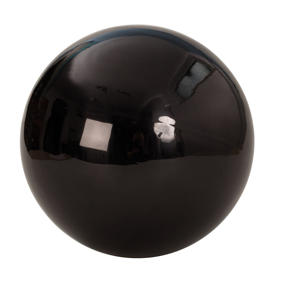 Large Decorative Ball in Black approx. 25cm Stainless Steel Ball Bauble Christmas Decoration