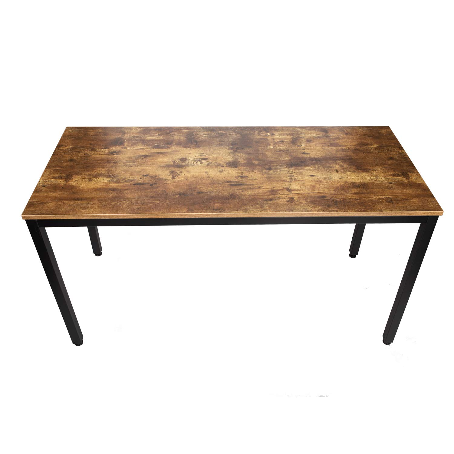 IRONCK Computer Desk, 47'' Office Desk with 0.7'' Thicker Tabletop 1.6'' Sturdy Metal Frame, Simple Study Table, Industrial Style Desk for Home Office, Matt Brown by IRONCK (Image #8)