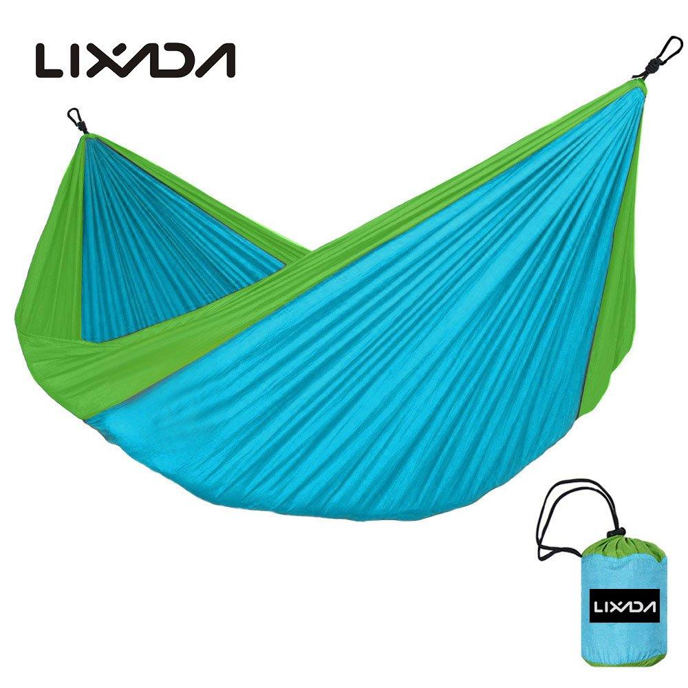 Vdk blau + grün Outdoor Hängematte 2 Personen Garten Camping Möbel Kugellager 200 kg Hängematte Travel Kits Hangmat 280  150 cm