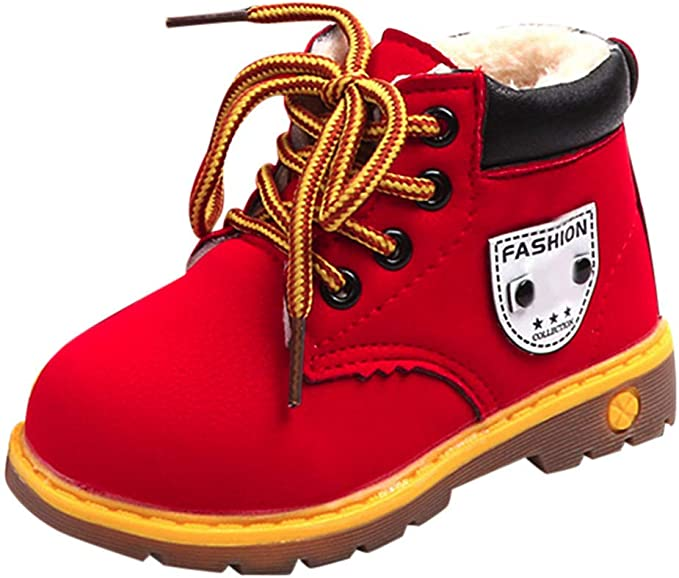 Children Shoes Boys Girls Sneaker Boots Lace Up Kids Baby Casual Shoes