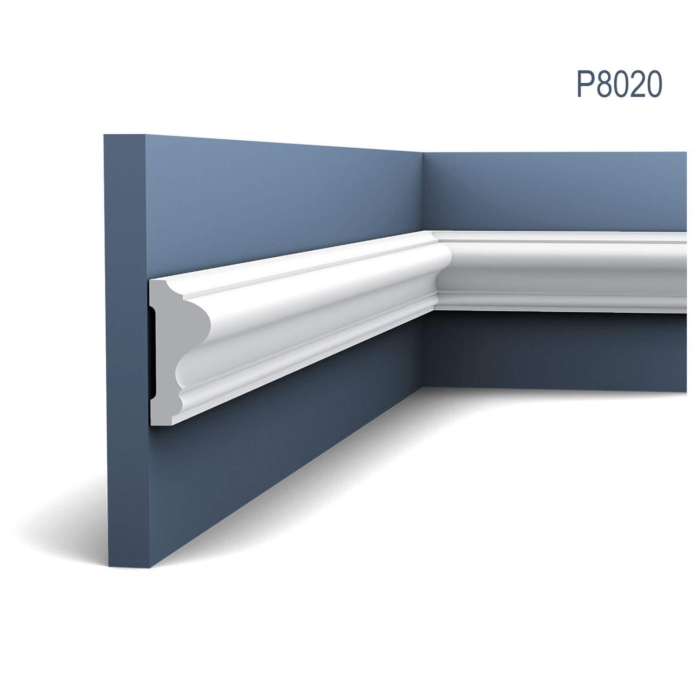 Moldura Cornisa Perfil de estuco Elemento Orac Decor P8020 LUXXUS decorativo para pared y techo 2 m: Amazon.es: Bricolaje y herramientas